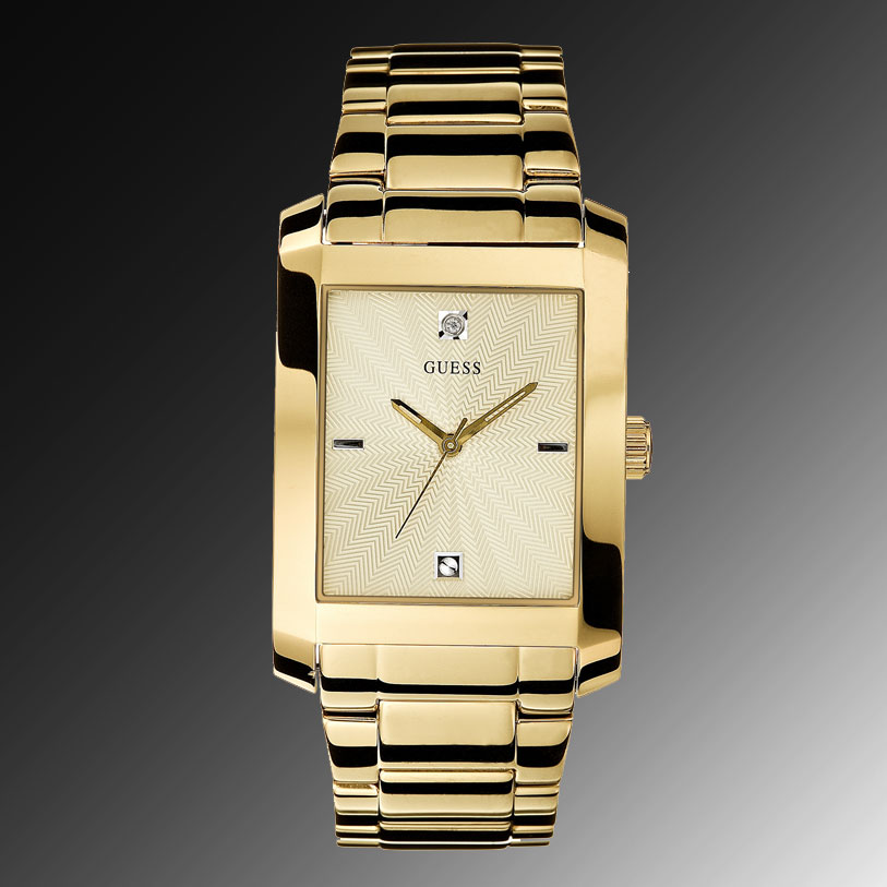 c713eb8863b2 100% Authentic GUESS Watch Mens Goldtone Stainless Steel Bracelet G11638G