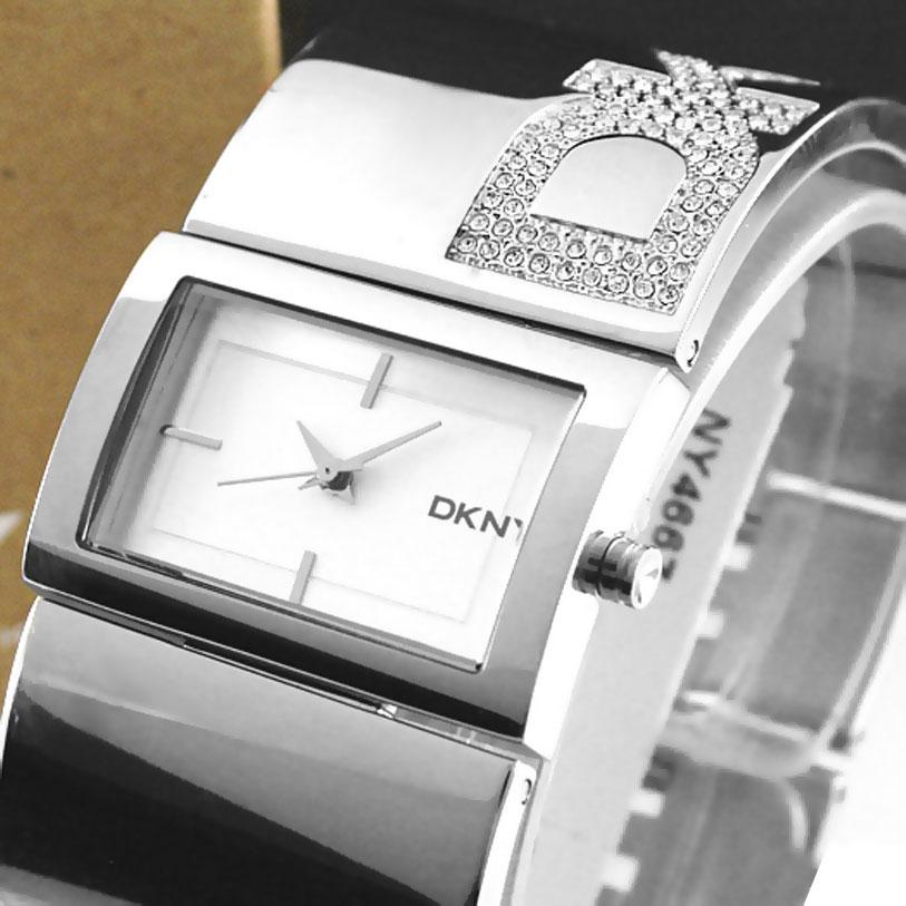 Authentic Las Dkny Diamante Crystal Bangle Watch Model Ny4667