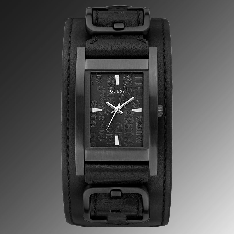Black Guess Watch With Diamond Guess Watch Black Leather