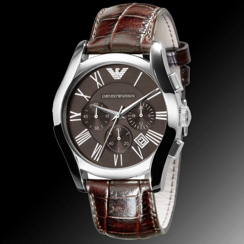 men 39 s watches emporio armani mens leather strap. Black Bedroom Furniture Sets. Home Design Ideas
