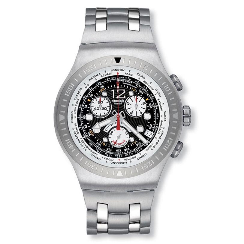 100 % original swatch men s irony chronograph watch # yos414g