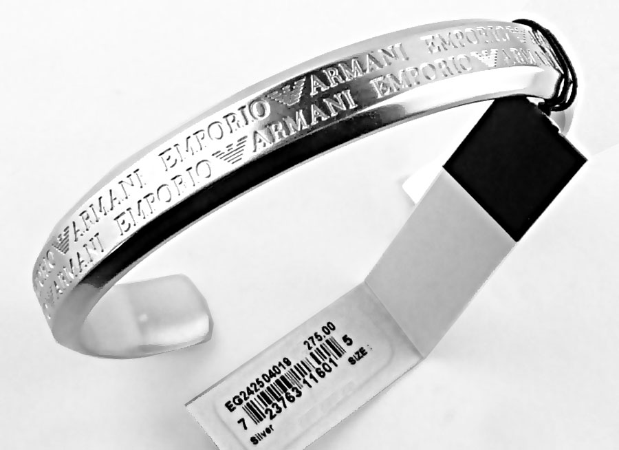 100 Authentic Latest Emporio Armani Men Cuff Bracelet Eg2425