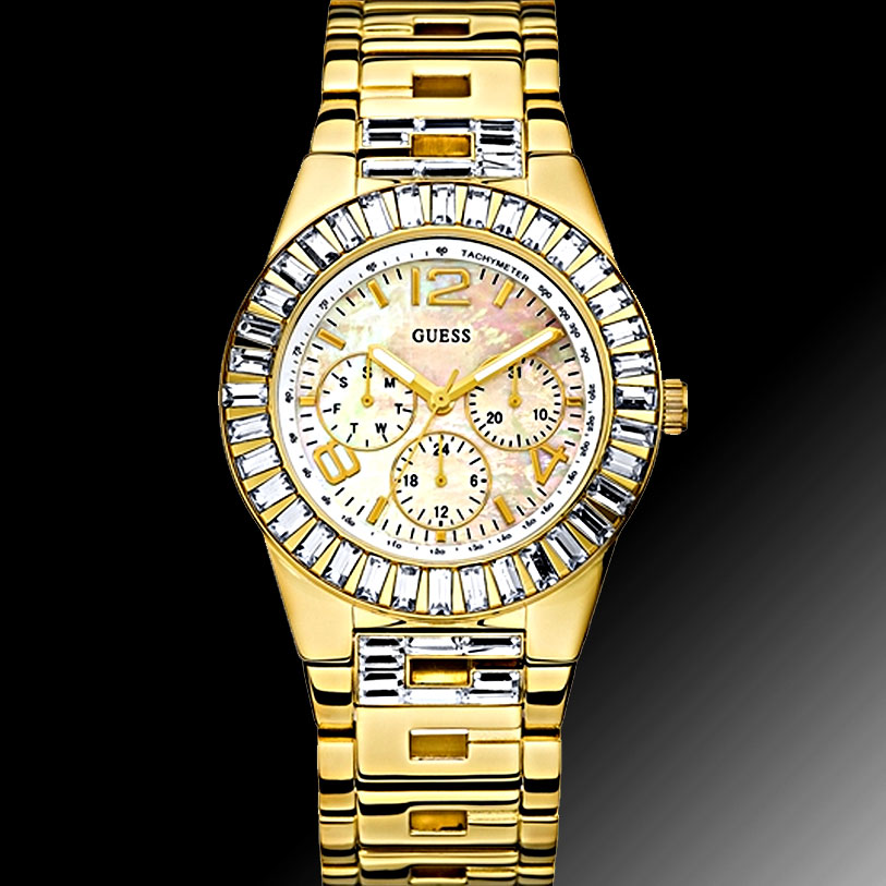 0f2156724fb4 100% Authentic Gold Guess WaterPro watch U20000L1