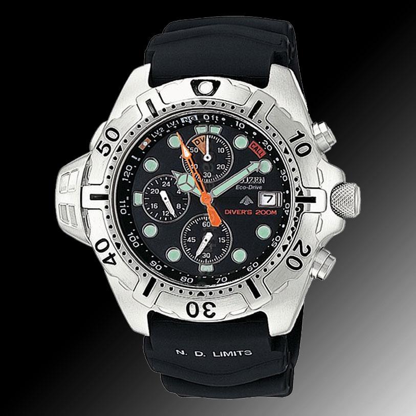7c8275a19de Citizen Eco-Drive Aqualand Stainless Steel Diving Watch BJ2000-09E